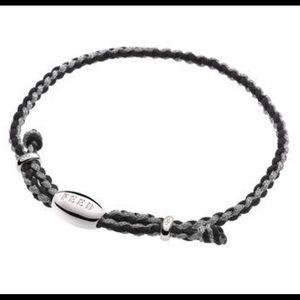Jewelry - Links of London FEED Bracelet Silver & Black New!